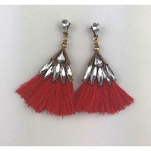 Jewelry - Red Tassel Earrings